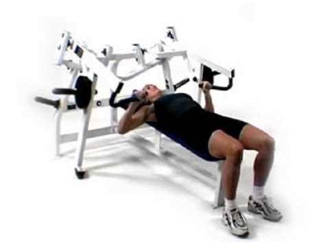 hammer strength bench press hammer strength iso lateral horizontal bench press youtube