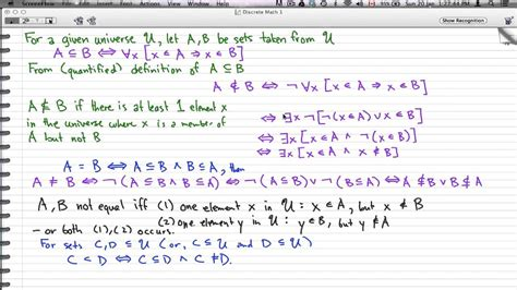 discrete math 1 tutorial 50 sets and subsets quot not