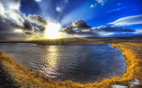 Sunset Reykjavik by Hdr Iceland Scenery Wallpapers Lake Of The Mornin Landscape Wallpapers Free Download