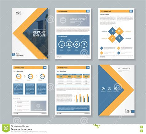 Business Report Layout Design | business company profile report and brochure layout