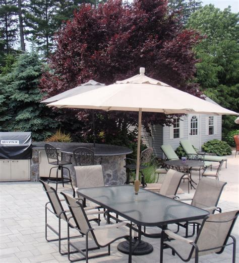 Small Patio Set With Umbrella Umbrellas For Patio Furniture Chicpeastudio
