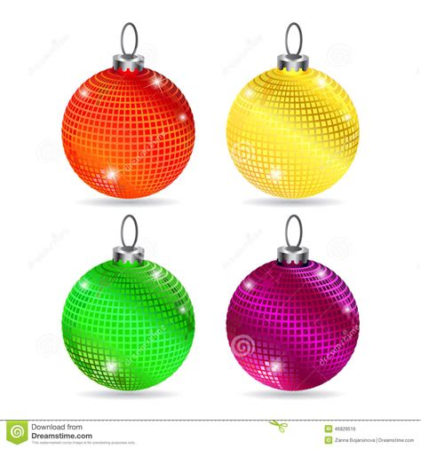 Colorful Baubles by Set Of Colorful Baubles Stock Vector Image 46829516