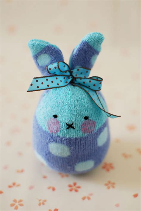 sock bunny easy how to make easter bunny softies from socks