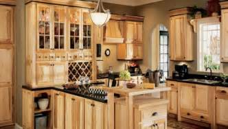hickory kitchen cabinets these light hickory kitchen