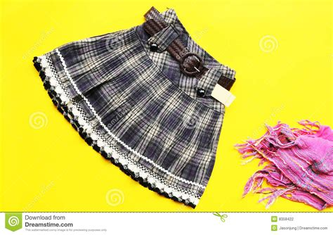 grid pattern fashion fashion skirt with grid pattern stock photography image