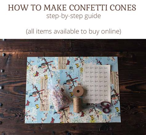 How To Make Paper Cones - how to make paper confetti cones step by step guide