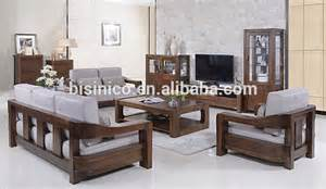 Walnut Living Room Furniture Sets American Style Black Walnut Furniture Sofa Set Noble Solid Wood Living Room Fabric Sofa Bf01