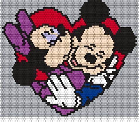 peyote beading projects minnie and mickey peyote bead pattern boncuk sanatı