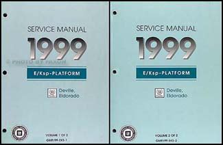 auto repair manual free download 1999 cadillac eldorado parking system 1999 cadillac deville eldorado shop manual set repair service concours touring ebay