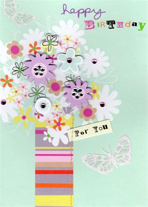 Birthday Cards For In Vase Flowers Handmade Birthday Card Cards Love Kates