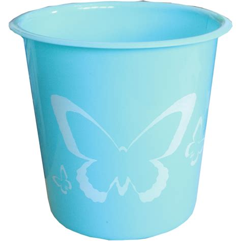 waste bin for bedroom pastel coloured butterfly waste paper bin bedroom office