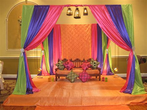 Simple Mehndi Stage Decoration by Mehandi Mehndi Stage Decoration