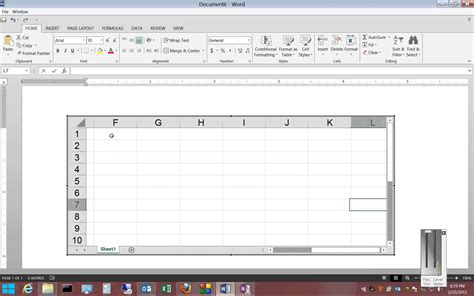 How To Do A Spreadsheet On Microsoft Word by How To Insert An Excel Spreadsheet In Microsoft Word 2013