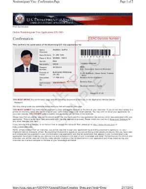 print appointment letter us visa fillable photos state sle us visa ds 160 form