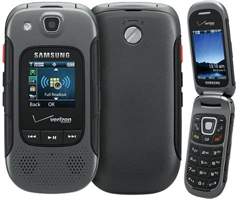 samsung convoy 3 sch u680 rugged mil spec flip phone for verizon gray condition used