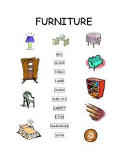 upholstery terms phrases english teaching worksheets furniture