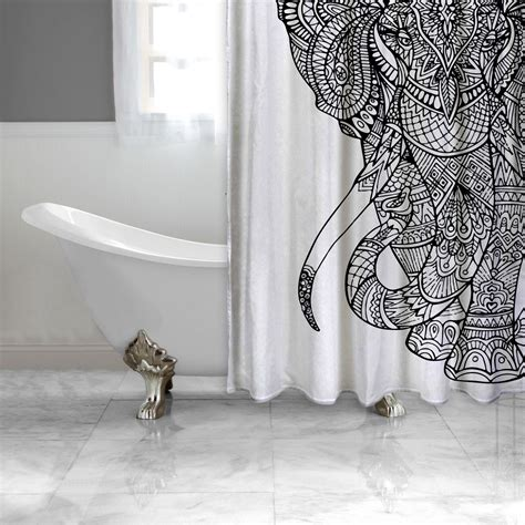 fun shower curtains for adults black and white elephant shower curtain adult coloring