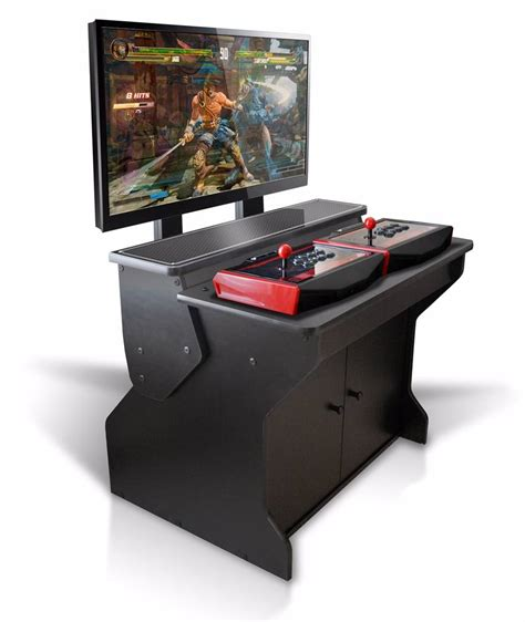 sit arcade cabinet xtension sit pedestal arcade cabinet for fight sticks