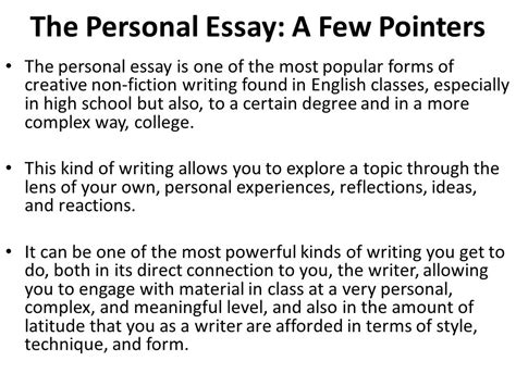 How To Write A Creative Nonfiction Essay by Creative Nonfiction Personal Essay Topics How To Write A Creative Essay Gse Bookbinder Co