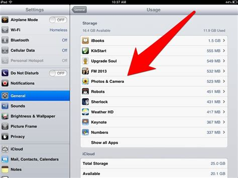 How To Tell How Much Is On A Gift Card - ipad tips how to find out how much storage space is being used by photos ipad insight