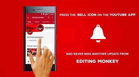 Editing Monkey On Gumroad Bell Icon Intro Template After Effects