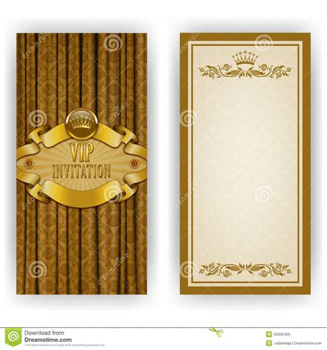 luxury invitation card template template for vip luxury invitation stock vector