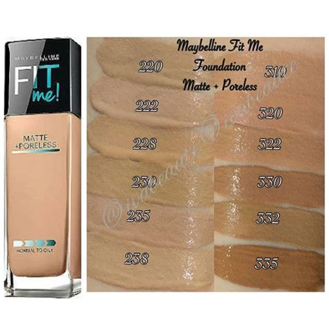 Maybelline Fit Me Foundation Indonesia maybelline fit me matte poreless foundation shopee