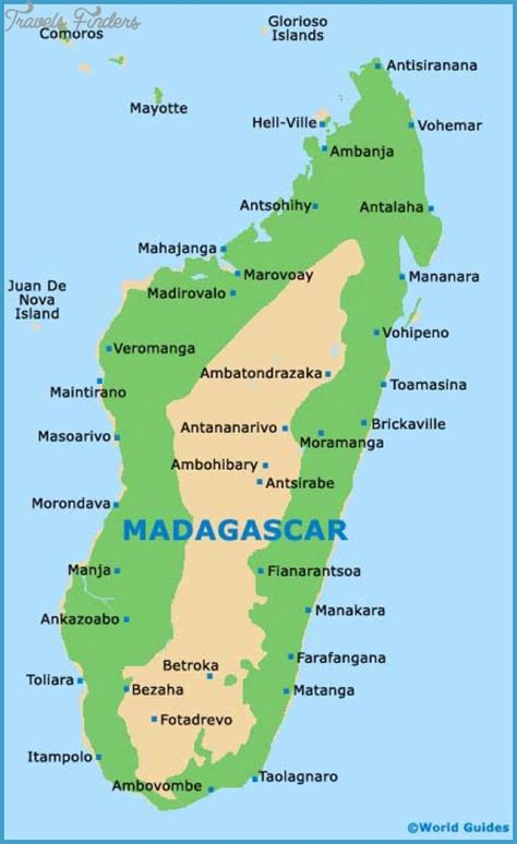 madagascar map madagascar map tourist attractions travelsfinders