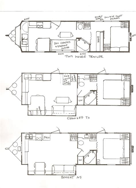 tiny house trailer design floor plan small home design