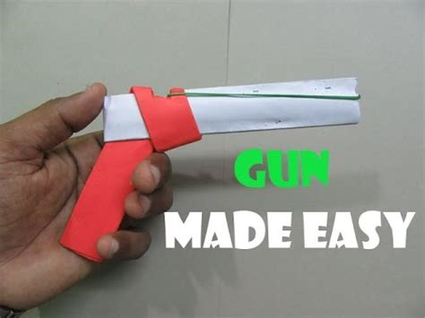 How To Make A Paper Rubber Band Gun - how to make a paper gun that shoots rubber bands with