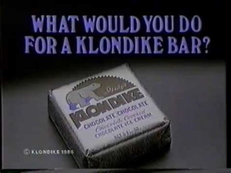 What Would You Do For A Klondike Bar Meme - 1986 klondike bar quot what would you do quot tv commercial youtube