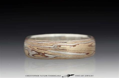 mokume gane mokume gane etched sterling silver shakudo kogane ring