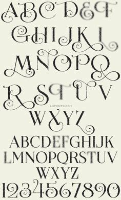 simple elegant tattoo fonts kalligrafie tabellen diagramme and handschschrift on
