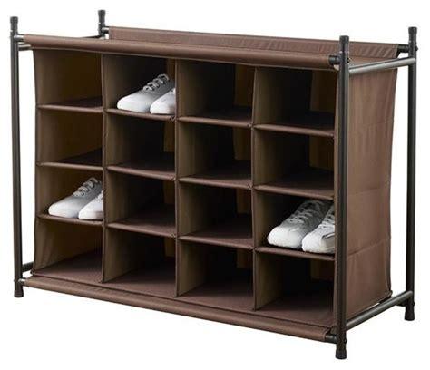 shoe organiser 16 compartment shoe organizer traditional closet