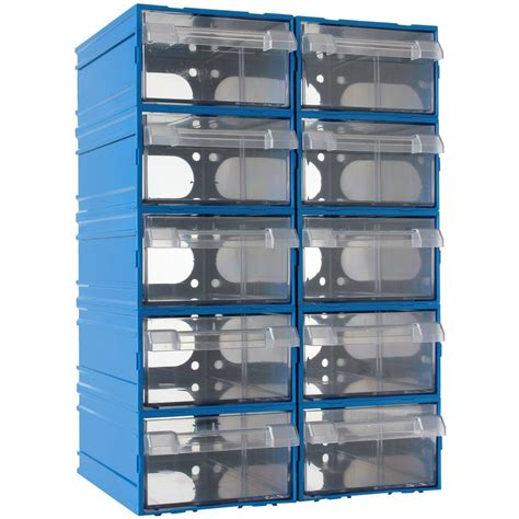mano 10 sliding plastic drawer set garage workshop