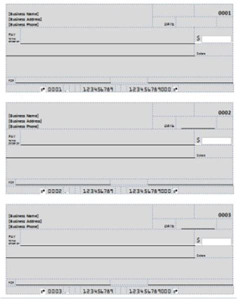 blank checks template blank check template deposit form