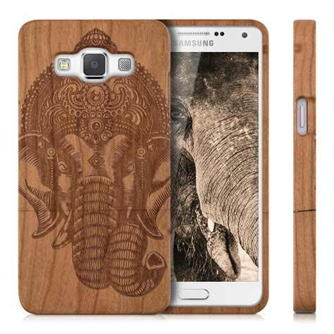 Rubber Samsung A5 Aristotle Quote Wood kwmobile wood cover for samsung galaxy a5 2015 back mobile ebay