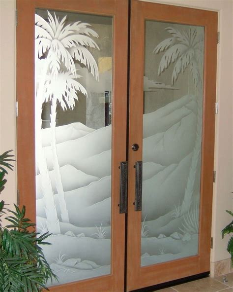 Glass And Doors Frosted Glass Doors Tree Designs Sans Soucie Glass