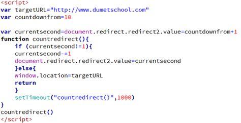 membuat redirect link php count redirect dengan javascript