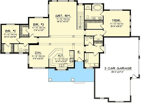 Sprawling Ranch House Plans 3 Bedroom Sprawling Ranch Home Plan 89884ah Architectural Luxamcc