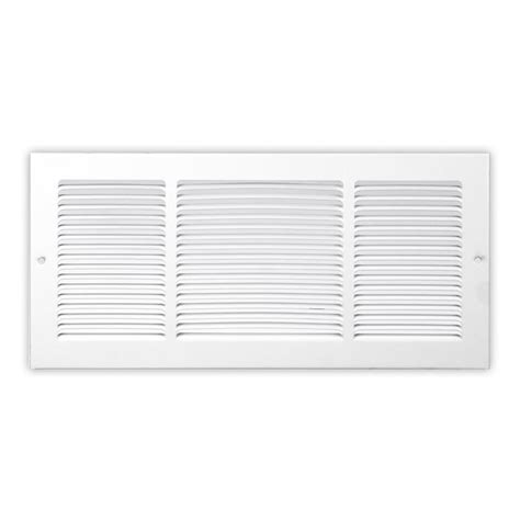 30x10 Soft White Baseboard Return Air Grille Stamped Face