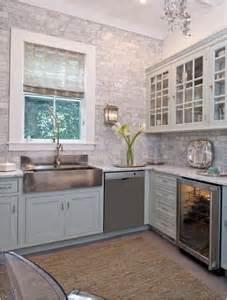 charming Kitchen Sink Caulk #10: gray-brick-pattern-tile-to-ceiling.jpg