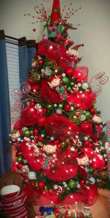 elf christmas tree ideas  pinterest christmas