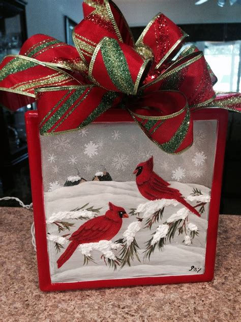 christmas ideas for glass blocks crafty glass block ideas you will craft projects for every fan