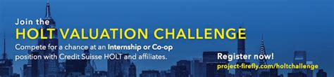 Credit Suisse Mba Fellowship by Credit Suisse Holt Valuation Challenge Rok 2015