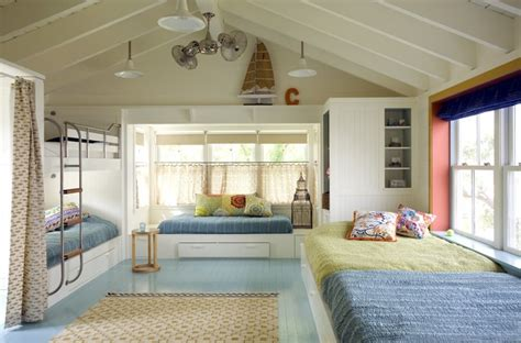 houzz childrens bedroom bunk room beach style kids by andra birkerts design