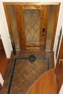 Tuscan Style Flooring Handmade Custom Entryway Grand Foyer Floor Tile Medallion
