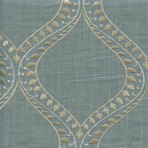 Embroidered Linen Drapery Fabric society lake mist blue embroidered linen drapery fabric sw47618 discount fabrics