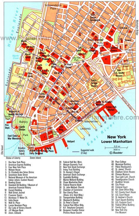 printable map lower manhattan new york manhattan map tourist new york map