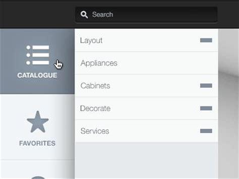 ui layout testing 47 best ui vertical menu images on pinterest